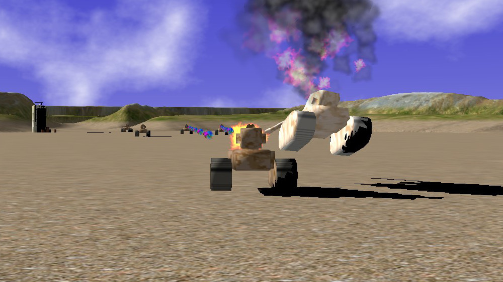 The Outer Rim exploding tanks screen shot